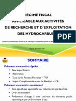 Presentation Du Regime Fiscal Applicable a La Recherche&Lexploitation Des Hydrocarbures