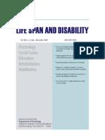 Lifespan and Disability