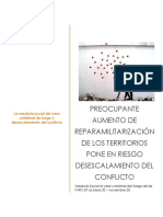 Veeduria cese unilateral, frente amplio por la paz, 9 informe