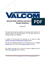 Public Address and Intercom System Design Guidelines