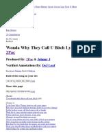 2Pac – Wonda Why They Call U Bitch