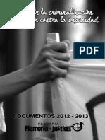 2012 - Plan de Acción Plenaria Memoria y Justicia