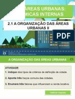 A Organização das Áreas Urbanas II - Geoport. Gina -15-16