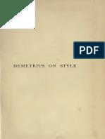 Demetrius On Style