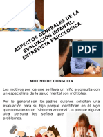 Aspectos Generales de Evaluación y Entrevista Infantil