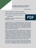Algunas reflexiones sobre documentación y formación de documentalistas, en nuestros países de América Latina