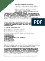 Datos de la Sede Valparaíso de la Universidad de Chile, 1967