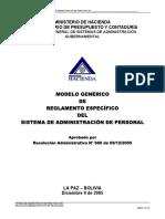 Modelo Reglamento Especifico Del SAP