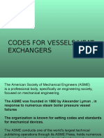 Codes for Vessels-Heat Exchangers