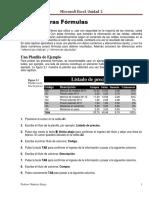 Unidad G Excel 2 (Las Primeras Formulas)