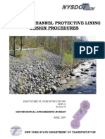 Bank and channel protective liner procedure