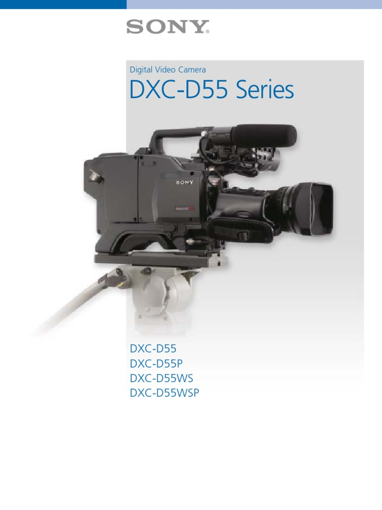 Page 6 of sony digital camera dxc-d55 user guide | manualsonline. Com.