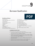 Borrower Qualification