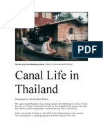 Canal Life in Thailand