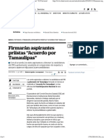 """13-01-2016 Firmarán Aspirantes Priístas """"Acuerdo Por Tamaulipas"""" _ El Universal"""