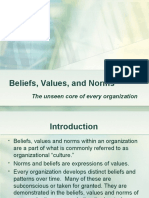 Beliefs,Values and Norms
