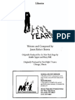The Last Five Years Libretto