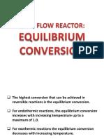 Plug Flow Reactor Equilibrium Conversion