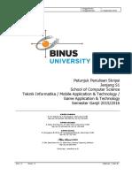 Petunjuk Penulisan Skripsi SOCS 2015-1