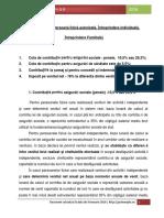 Taxe Si Contributii PFA 2016