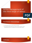 Active Management of the Third Stage of Labour
