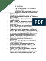 Bibliografie Generala Protocol
