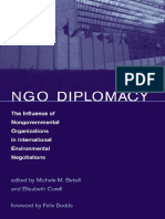 The Influence of Non Governmenal Organizations in International Environmental Negotiations