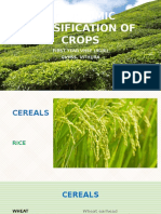 Agronomic classification of crops