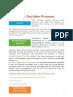 Consumer Decision Process Word