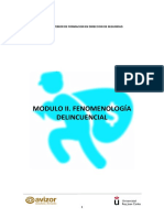 Temario Modulo 2 Fenomenologia Delicuencial