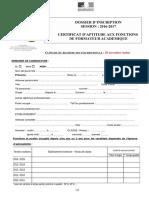 Dossier Inscription 2016 CAFFA