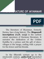 The Literature of Myanmar