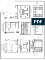 A3 Bed Room Inateriors Layout Plan