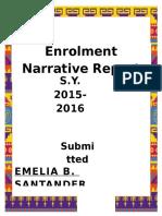 Enrolment Narrative Report