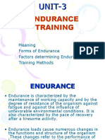 Endurence Training