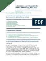 Costos Del Transporte en El Mercosur