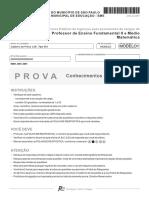 Fcc 2011 Prefeitura de Sao Paulo Sp Professor Matematica Ensino Fundamental II e Medio Prova