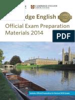 Exams Catalogue Spain 2014