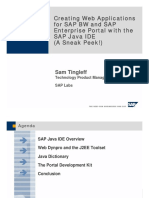 Creating Web Applications for SAP BW and SAP Enterprise Portal With the SAP Java IDE