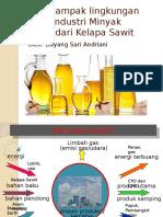 Aspek Dampak Lingkungan Proses Industri Minyak Goreng Dari