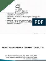 1. Penatalaksanaan Terkini Tonsilitis