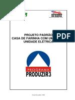 PROJETO PADRÃO CASA DE FARINHA COM UM FORNO UNIDADE ELÉTRICA