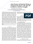 The Effect of Injection Pressure and Injection Timing on Performance and Emission Parameters with Algae Oil Methyl Ester Blend as a Fuel for CI Engine