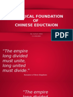 Chinese History and Education