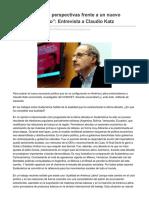 Marxismocritico.com-América Latina Perspectivas Frente a Un Nuevo Escenario Político Entrevista a ClaudioKatz