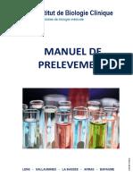Manuel de Prélèvement
