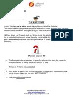 Advanced Intermediate - Helpsheet 1 - Preterite