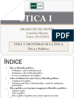 ÉTICA I. Tema 7. 2015-16