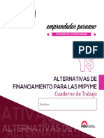 Cuaderno de Trabajo Alternativas de Financiamiento