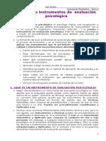 Evaluacion Psicologica-tema 3- UNED